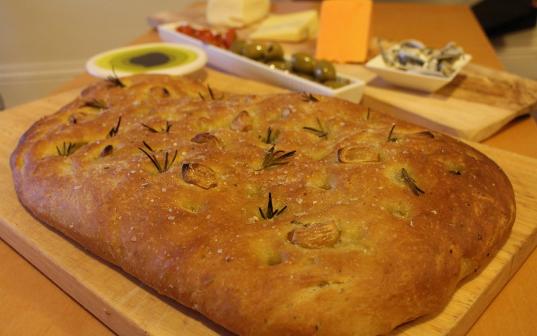 Roasted Garlic and Rosemary Focaccia