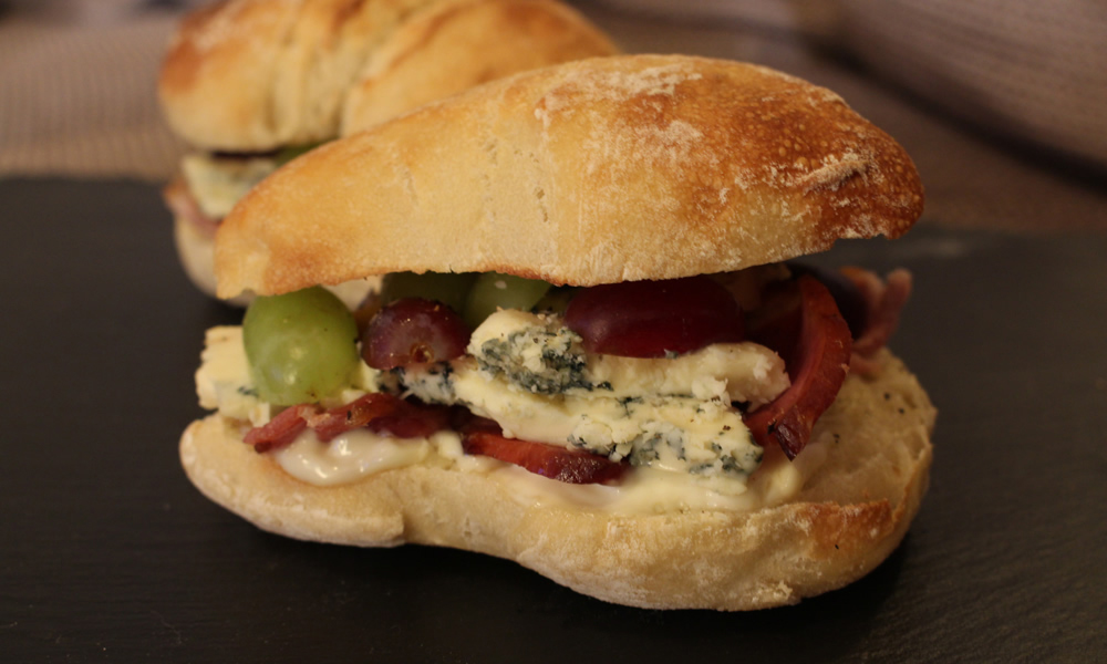 Stilton, Bacon and Grape Ciabatta