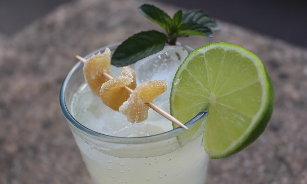Ginger and Mint Collins