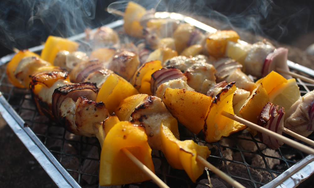Lemon and Honey Chicken kebabs