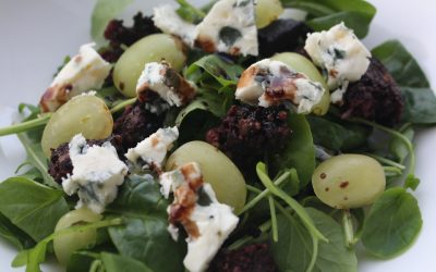 Black Pudding, Roquefort and Grape Salad