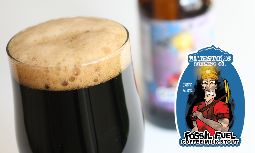 Bluestone Brewery's Fossil Fuel, A Coffee Milk Stout